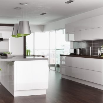 Bespoke made to measure Gloss White kitchen in London