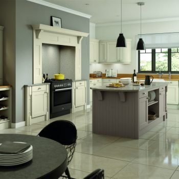 Bespoke fitted traditional shaker style kitchen with island London