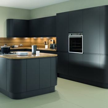 Made to measure bespoke Matt Anthracite with Island kitchen in London