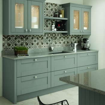 Bespoke made to measure Shaker Timber Traditional Kitchen in Matt Dust Grey Colour in London