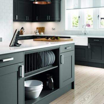 Bespoke Traditional Shaker Style Kitchen in Light Grey Matt Colour London