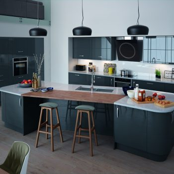 High Gloss Fitted Kitchen