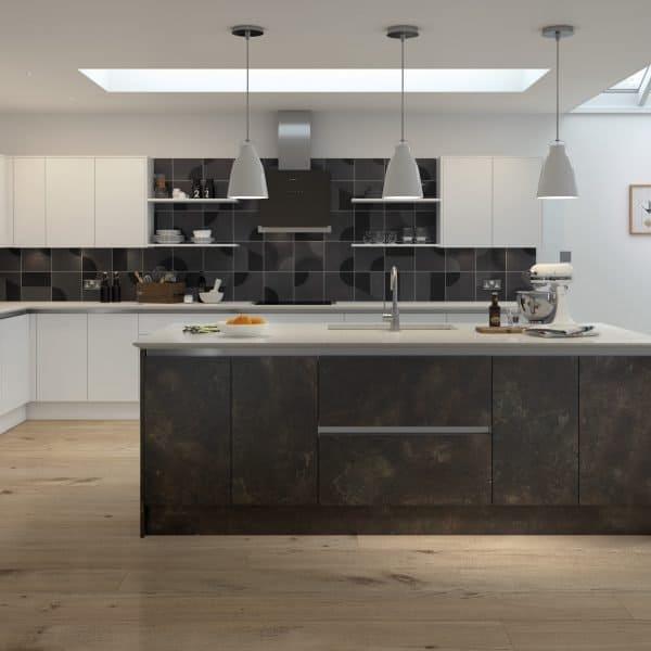 Bespoke modern kitchen with island London