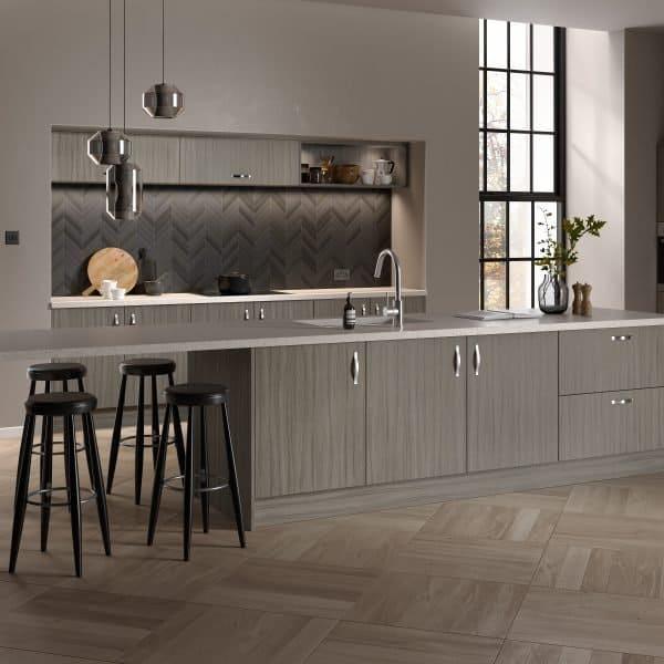 fitter modern grey kitchen London
