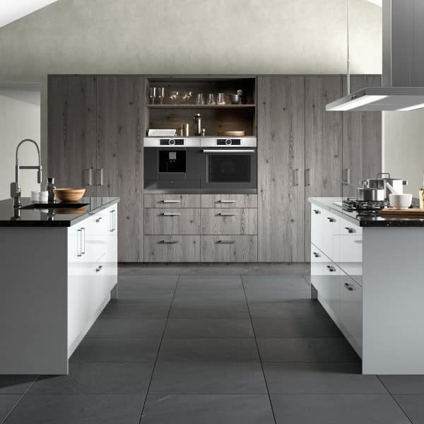 made to measure modern grey and high gloss fitted kitchen London