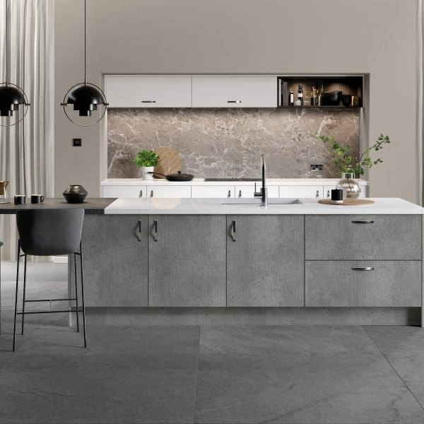 made to measure modern grey fitted kitchen London